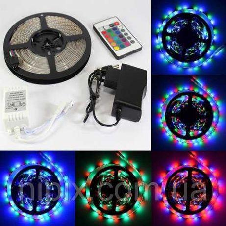 Светодиодная лента многоцветная 3528 RGB