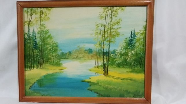 Картина маслом 32,5х42,5 см. в деревянной рамке.