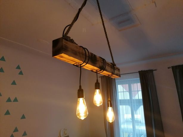 Lampa sufitowa na belce loft