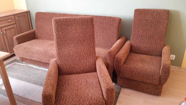Nowy komplet wypoczynkowy - kanapa + 2 fotele