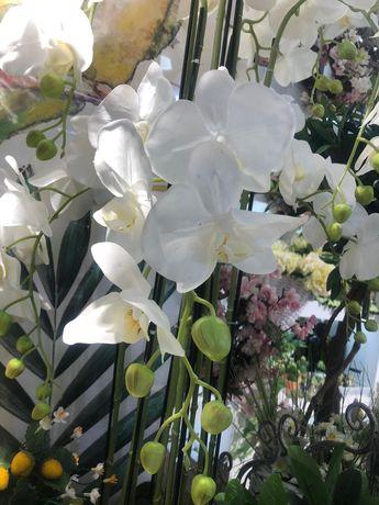 orquídea artificial realista LINDA!