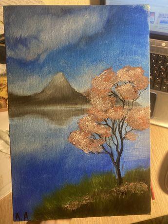 Картина пейзаж маслом живопись