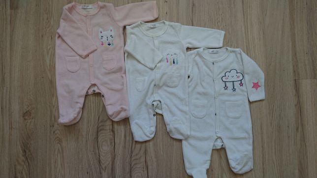 Pajac niemowlęcy, biały i różowy, wyprawka (dziewczynka)