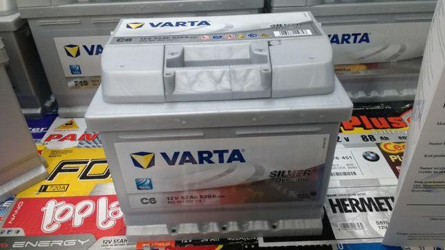 Akumulator Varta Silver 12V 52Ah 520A C6 P+ dowóz montaż Kraków Azory