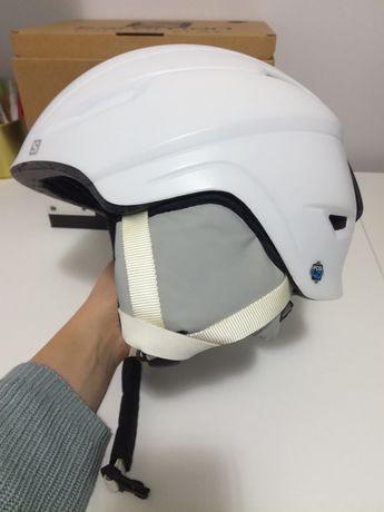 Kask narciarski Salomon M 56-59 cm biały pudełko jak nowy