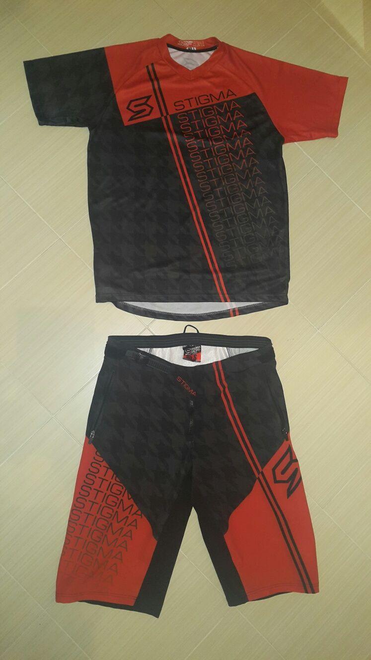 Spodenki koszulka Enduro AM FR DH rozmiar S Stigma rower jersey flex