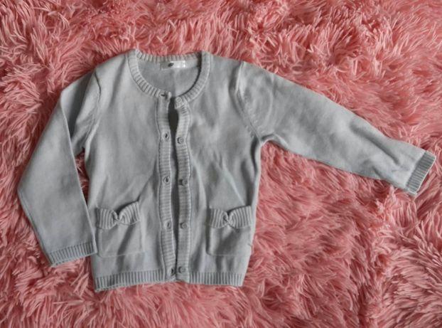 Sweterek rozpinany 92 szary