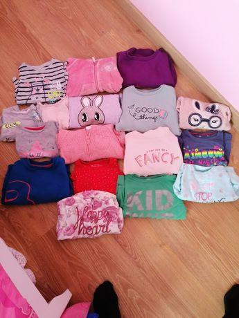 Bluzy dziewczęce zestaw od 92rozm do 104