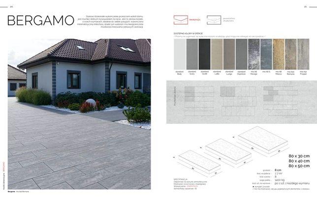 kostka tarasowa bergamo, płyty tarasowe betonowe , Oleśnica , Kostbet