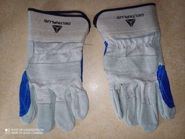 Перчатки DELTA PLUS DS202RР DS202RP10 комбинированные х/б сине-серый