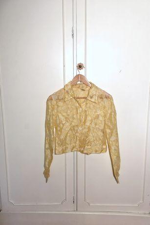 Camisa / casaco transparente amarelo