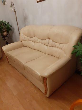 Kanapa i fotel skórzany