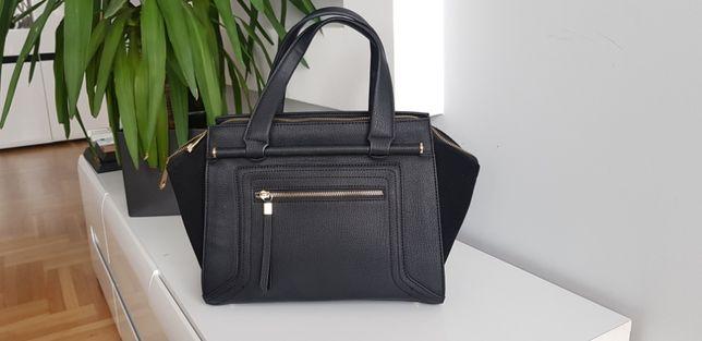 Elegancka czarna torba torebka Lionel