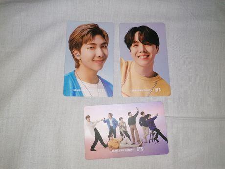 photocards bts Samsung (hobi, grupo e RM)