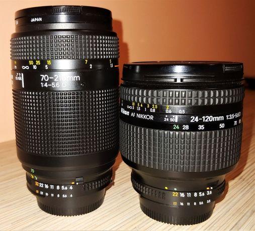 Obiektywy Nikon 24-120 i 70-210 mm oraz aparat Nikon D200 sprzedam