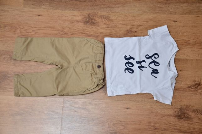 Koszulka (roz. 68) i spodnie (roz. 74) RESERVED