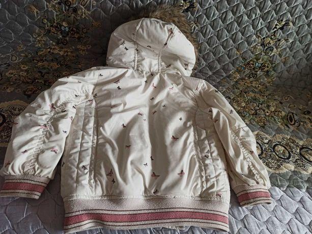 Зимняя куртка для девочки, размер 1,5-2 года