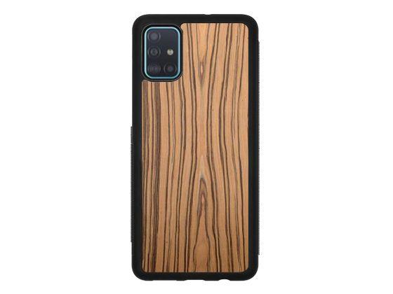 Drewniane Etui Case Samsung Galaxy A51 + Szkło
