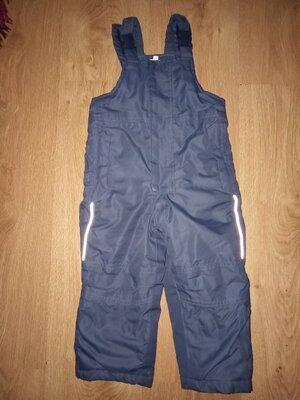 Теплые зимние штаны полу комбинезон 1,5-2,5 года