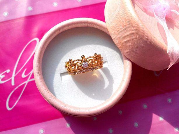 Кольцо Корона, Ювелирная бижутерия - позолота