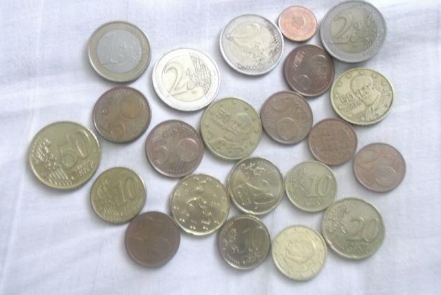 Євроценти Евроценты 1-50цент. 1-2євро Польські Злоті1-5,PLN гроші1-50