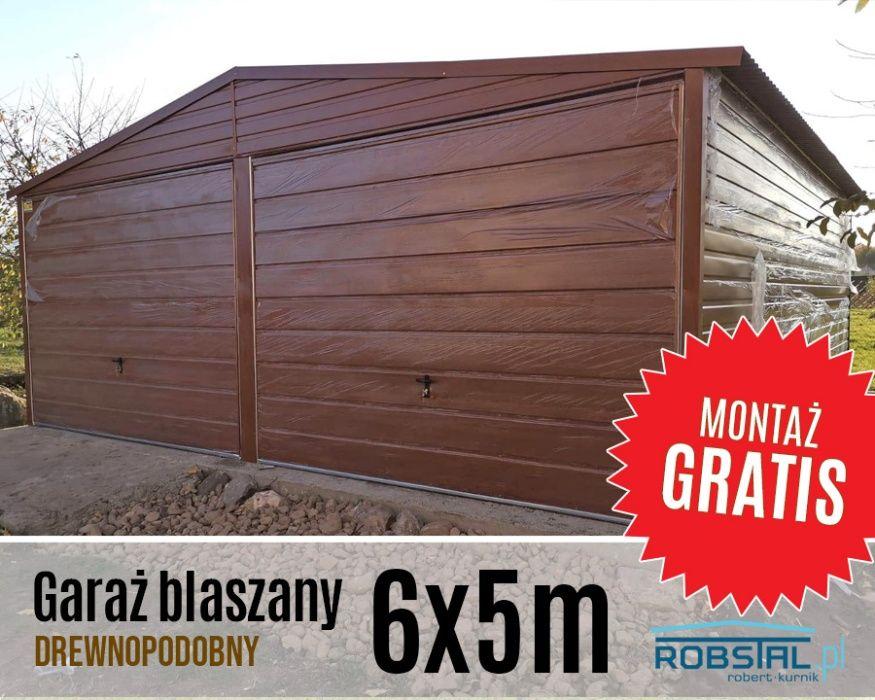 Garaż blaszany drewnopodobny Garaże blaszaki PREMIUM