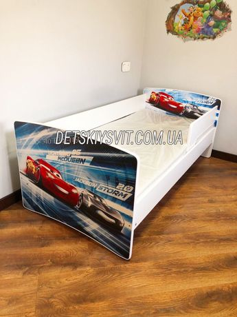 Кровать для мальчика со съемным бортиком.Кровать для девочки.