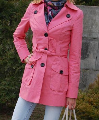 Płaszcz/trencz wiosenny Tally Weijl XS/34 różowy klasyczny