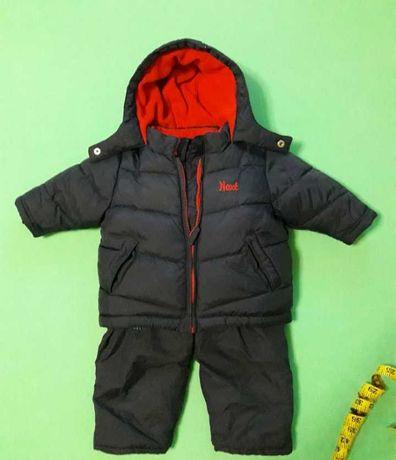 Зимний детский комбинезон теплый,куртка зимовий комбінезон Next 6-12 м
