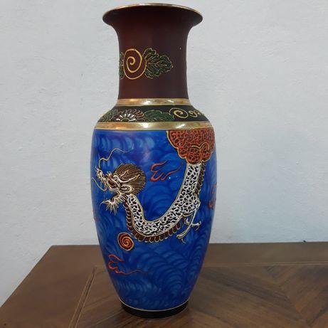 Zabytkowy japoński wazon ze smokiem, Nippon Tokusei, okres Early Showa