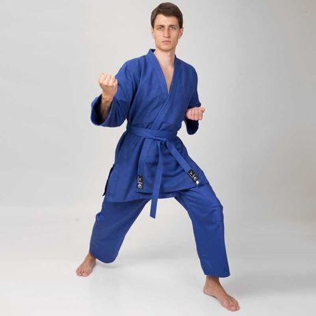 Кимоно для дзюдо и джиу-джитсу Matsa синие, хлопок 450 г/м2