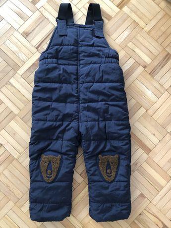 Spodnie na szelkach zimowe narciarskie r. 98 Zara!
