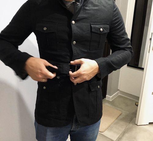 Marynarka męska Zara militarna płaszcz kurtka parka bomberka