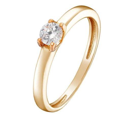 Золотое кольцо с куб окс циркония