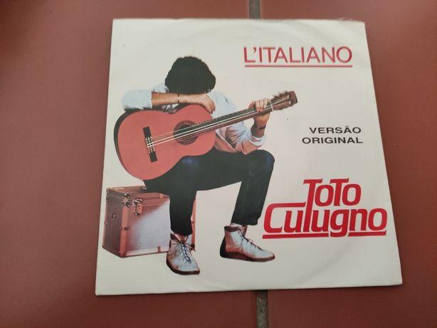 Disco Vinil L' Italiano- Toto Cutugno