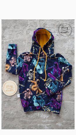 Bluza dresowa, handmade, chlopieca rozm 128