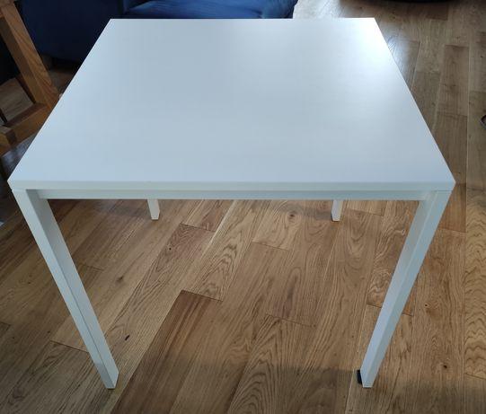 Melltorp stół biały 75x75 kompletny