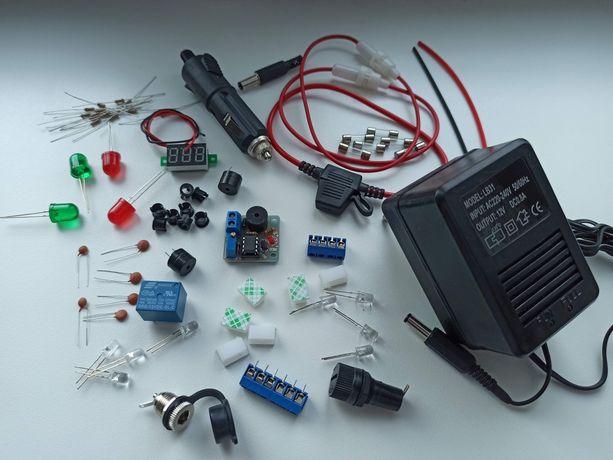 Zestaw do łódi zanętowej + ładowarka akumulatorów żelowych zestaw nowy