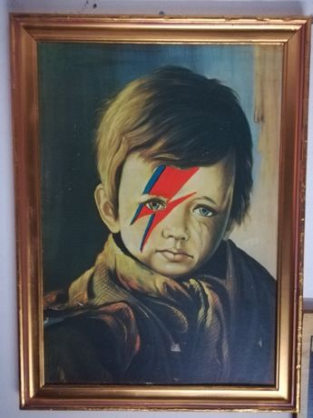 Quadro menino que chora lDavid Bowie
