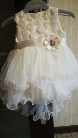 Платье крестильное, нарядное новогоднее свадебное bebetto 3-6
