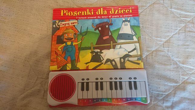 Ksiażka pianinko Piosenki pianino dla dzieci nuty