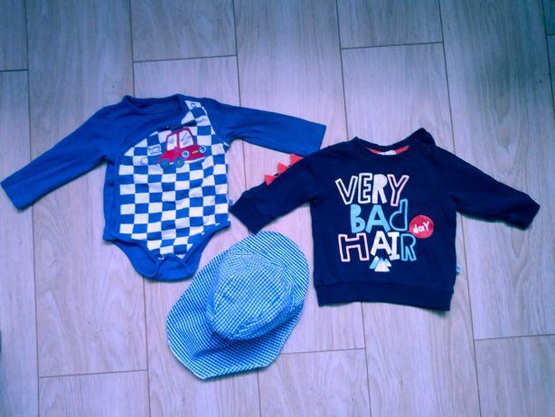 Body i bluzka coccodrillo oraz czapka 5 10 15