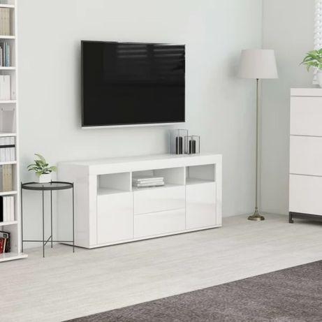 Szafka TV, biała,120x30x50 cm, płyta wiórowa nowa