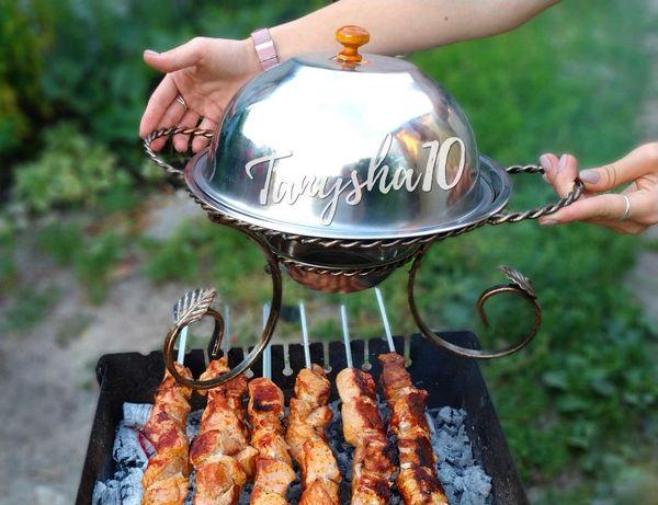Поднос подставка блюдо для подачи шашлыка овощей садж подарок мужчине