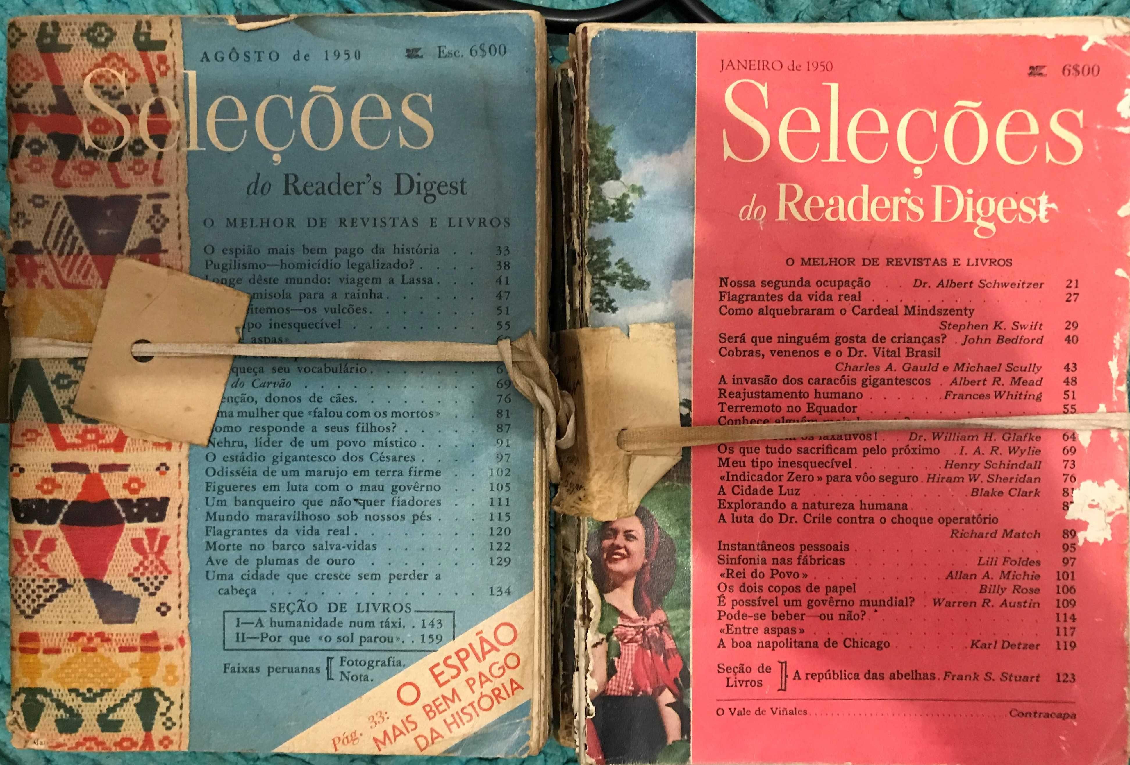 Revistas Seleções Reader´s Digest desde 1950