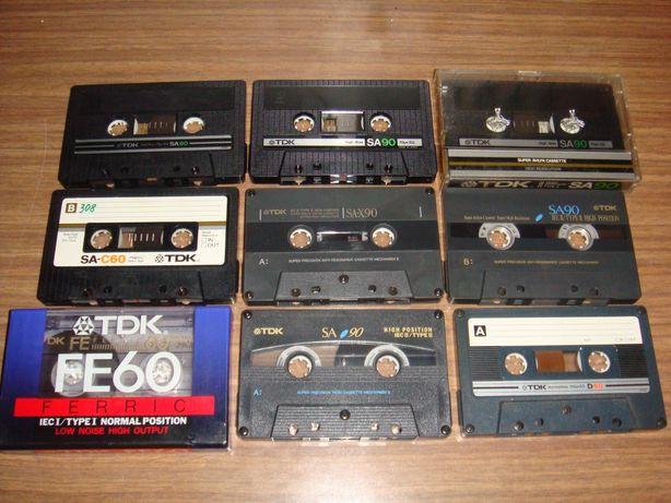 TDK kasety magnetofonowe zestaw