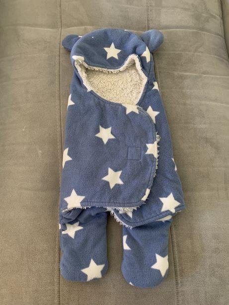 """Saco cama/ manta bebé efeito """"Swaddle"""""""