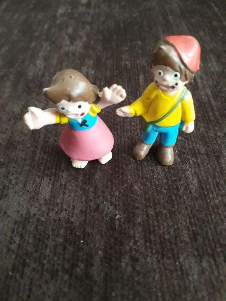 Gumowe figurki dziewczynka i chłopczyk