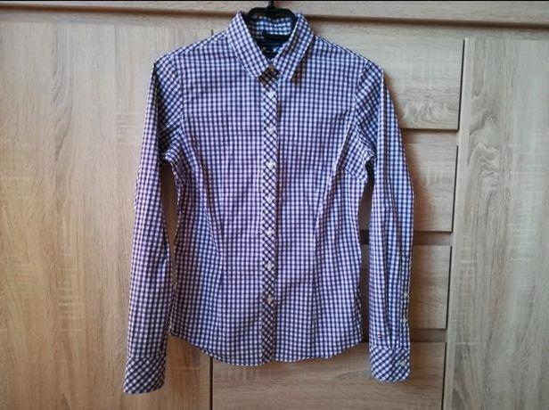 Fioletowa koszula Tommy Hilfiger w kratę