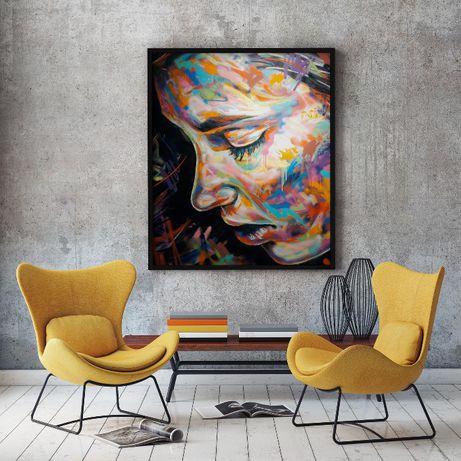 Obraz na płótnie 120x100cm NOWY ( loft mieszkanie salon art ) plakat